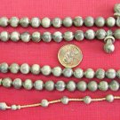 ISLAMIC PRAYER BEADS 99 MARBLED GREY GALALITH RARE CARVING COLLECTOR'S