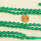ISLAMIC PRAYER BEADS 99 GREEN TURKISH AMBER CATALIN SUPERIOR CARVING COLLECTOR'S