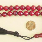 PRAYER BEADS KOMBOLOI  SHALGAMY CUT FATURAN RESIN W CHERRY AMBER COLOR
