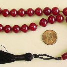 PRAYER BEADS KOMBOLOI  SHALGAMY CUT FATURAN RESIN W DARK AMBER COLOR