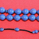 PRAYER WORRY BEADS TESBIH SPECKLED  DENIM LAVENDER GALALITH RARE COLLECTOR'S