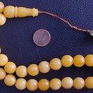 PRAYER WORRY BEADS KOMBOLOI RESIN OF YELLOW AMBER COLOR