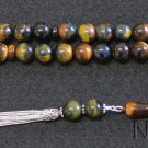 Luxury Prayer beads Tesbih AA Hawk Eye & Sterling top quality collector's