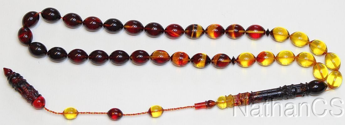Prayer beads Tesbih Marbled mixed Catalin Superior Special Carving Collector's