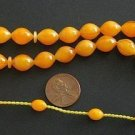PRAYER BEADS BUTTERSCOTCH TURKISH AMBER SUFI SUPERIOR CARVING - COLLECTOR'S