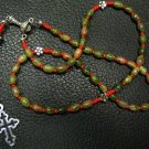 Catholic Rosary Unakite & Sterling Silver