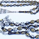 PRAYER WORRY BEADS TESBIH STUDDED KUKA INLAID WITH BONE AND HORN - SPECIAL OFFER