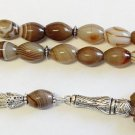 Luxury Tesbih Prayer Beads Top Quality Botswana Agate AA Grade - Collector's