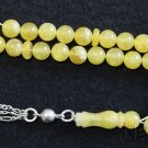 Prayer Worry Beads Tesbih Komboloi Yellow Jade And Sterling Silver Complete