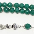 Luxury prayer Worry Beads Tesbih genuine Emeralds & Sterling - VR Collector's
