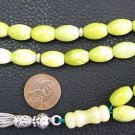 ISLAMIC PRAYER WORRY BEADS OVAL JADE & STERLING SILVER