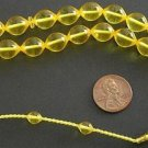 PRAYER BEADS GOLDEN TURKISH AMBER SUPERIOR SUFI STYLE CARVING COLLECTOR'S ITEM