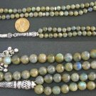 ISLAMIC PRAYER BEADS TESBIH GEBETSKETTE 99 LABRADORITE & STERLING SILVER
