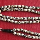 ISLAMIC PRAYER BEADS GEBETSKETTE 99 DALMATIAN JASPER & STERLING SILVER