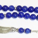 Luxury Prayer Worry Beads tesbih Thailand Sapphire & Sterling - XXR Collector's