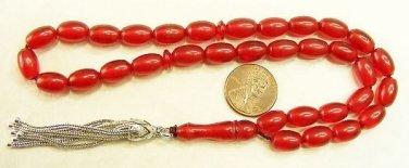 Prayer Beads Komboloi Vintage Pommegrenade Color Misketa 1950 New Old Stock RRR