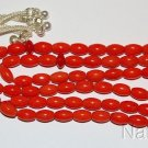 ISLAMIC PRAYER BEADS TESBIH GEBETSKETTE 99 ORANGE RICE CORAL & STERLING SILVER