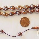 PRAYER WORRY BEADS GEBETSKETTE KUKA WITH FINE STERLING STUDDING RARE COLLECTOR