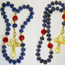 ORTHODOX BEADED CHOTKI KOMBOSKINI GENUINE SAPPHIRE,RUBY AND VERMEIL UNIQUE