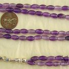 ISLAMIC PRAYER BEADS TESBIH SUBHA 99 LAVENDER AMETHYST & STERLING SILVER