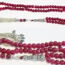 Islamic Prayer Bads Genuine Ruby Beads & Sterling Silver - 99 Beads