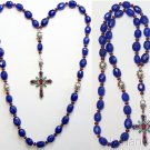 Beaded Chotki Komboskini Genuine Sapphire and Sterling - Unique Orthodox Rosary