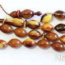 Prayer Beads Tesbih Marbled Vintage Czech Catalin Superior Carving Collector's