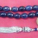Prayer Worry Beads Komboloi Genuine Sapphire Beads & Sterling Silver Tassel Rare