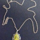 19th Century Gold & Sterling Medal St. Therese Hand Painted Miniature w Ag Chain