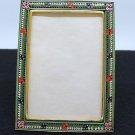 Vintage Large RECTANGULAR Photo Frame Millefiori Micro Mosaic 1960's - Rare