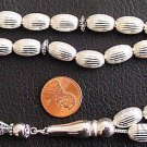 Prayer Beads Large Tesbih All Sterling Silver - Impressive and Heavy 2 Troy Oz.