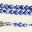 Luxury Prayer Beads Tesbih AAA Grade Sodalite & Sterling Top Quaéity Collector's