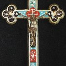 Antique micro mosaic cross - crucifix - Italian grand tour Exquisite design Rare