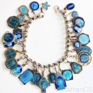 Vintage Sterling Charm Bracelet with 32 Rare Pristine Medals Enameled Both Sides