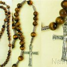 Catholic Rosary Gebetskette Tiger Eye & Sterling Silver