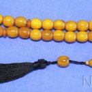 Prayer Beads Tesbih Faturan Type Resin of Kahraman Amber Color Vintage 1970's VR