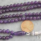 Islamic Prayer Beads Gebetskette 99 Round Amethyst Beads & Sterling Silver
