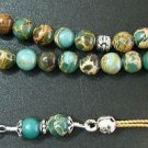 Greek Komboloi Worry Beads Variscite Beads w Sterling Silver Tassel & Parts
