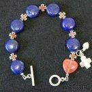 Anglican Episcopal Rosary Bracelet Lapis, Rose Quartz, Sterling Silver & Enamel