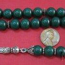 Prayer Beads Tesbih Komboloi  Malaysa Jade & Sterling Silver
