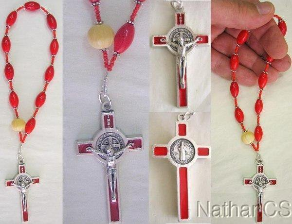 Catholic Rosary Travel Chaplet Vintage Lucite, Bone & Sterling Silver