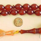 Prayer Worry Beads Komboloi Brown Amber Olive Faturan Type Resin