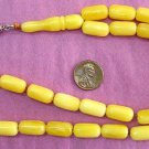 Prayer Worry Beads Bakelite Type Resin Special Cut with Butterscotch Color