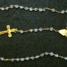 Catholic Vintage Rosary New Old Stock Bohemian Crystal Exquisite Series No15