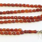 Islamic Prayer Beads 99 FACETED CARNELIAN  -Collector's - Scarce