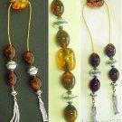 Begleri Mini Komboloi Genuine Amber and Sterling Silver - Special Design