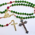Catholic Emerald, Ruby, Vermeil & Micro Mosaic, Wearable 9 Uses 2 crosses UNIQUE
