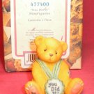 "Cherished Teddies ""YOU DID IT"" Mini Figurine 1998"