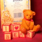 "Cherished Teddies ""I LOVE BEARS"" Mini Figurine 1996"