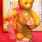 Cherished Teddies Bear Holding Blocks Mini Figurine 1996